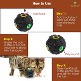 "Fun & Entertaining Food Dispenser Toy for Cats and Dogs -  Food Puzzle Ball (4"")"