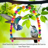Humming bird Swing Perch - Wooden Dowel makes for perfect resting spot