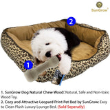 Wooden Bone Chew Toy for Dogs by SunGrow