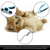 SunGrow Flea Comb for Cats & Small Dogs