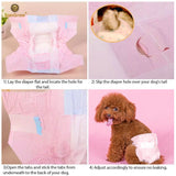 Super Absorbent, Leak-Proof Dono Pet Diapers (16 count) for Dogs & Cats (Pink color)