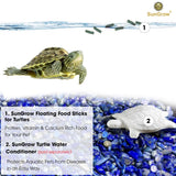 Floating Food Sticks for Aquatic Turtles, Newts & Frogs