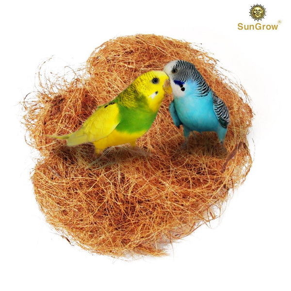 SunGrow Coconut Fiber, Comfortable Bedding for Small Birds and Animals, Nest Material, Great for Nest Building and Hideouts