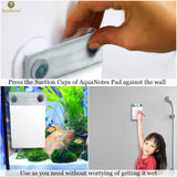 AquaPad Waterproof Notepad for Aquarium Wall