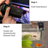 SunGrow Microcomputer Automatic Fish Feeder, 6.6 Inches, for Healthy Ornamental Fish, Convenient, Easy to Install on Fish Tanks and Aquariums, Ideal for Everyday Use
