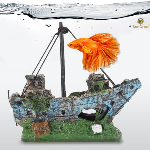 Betta Shipwreck - Aquarium or Home Decor