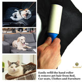 3 Pet Fur, Lint Remover Replacement Rolls - Sticky replacement heads