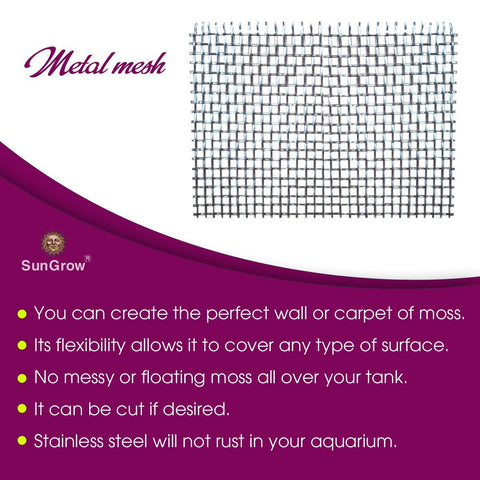 Luffy Beautify Aquascape Wire Stainless Steel Mesh (5 pcs) - No More Messy/Floating Moss - Rust-Free - Easy to Use with All Aquatic Plants Including Java, Pellia, Riccia, Star & Flame Moss
