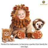 SunGrow Cat Lion Mane Costume