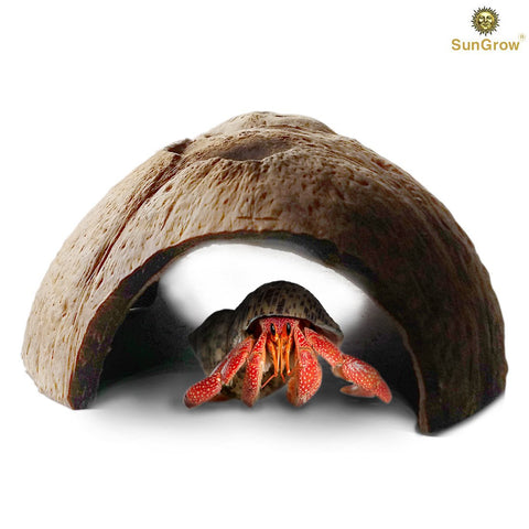 Natural SunGrow Connectable Coco Tunnel Hut for Spiders, Lizards & Hermit crabs
