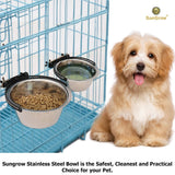 2 Stainless Steel Bowl for Pets by SunGrow 30 oz/20 oz
