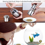 Fish Food Grinder - Crusher & Dispenser For Food Pellets And Flakes