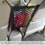 "Stretchable Pet Barrier & Organizer --- 10""x12"" Storage Net & Seat Restrain"