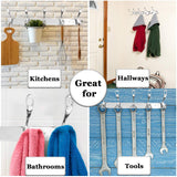 "12.5"" Coat Hook - Stainless Steel 5-Hanger Storage Solution - Ideal for Small-Spaced Areas - Good for Organizing Purse, Bag, Towel, Hat, Robe - Beautiful Wall Accent - with Mounting Screws"