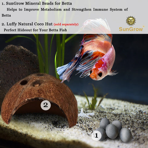 10 Betta Mineral Balls: Calcium-rich Tourmaline Balls for Perfect Nutrient Balance