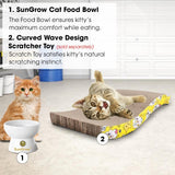Cat Bowl with Stand - Suitable Eating Height for Pets – Easy Cleaning for You – Eco-Friendly, Raised Food Bowl – Stress-Free Meal time for Your Cats - Stoneware Feeding Station