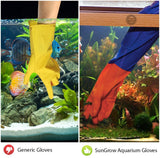 "2 Aquarium Water Change Gloves by SunGrow (19"") - Keep hands & arms dry, allergen- and contamination-free during Fish tank maintenance: Elastic forearm seal and prevent leaks: Heavy-duty construction"