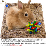SunGrow Rabbit Wood Knot Nibble Toy