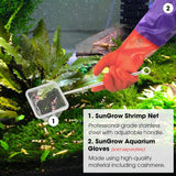 SunGrow Shrimp Net - Professional Grade Stainless Steel Telescopic handle