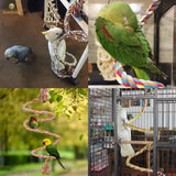 Brightly Colored Handmade Eco Friendly Rope Perch and Chew Toy for Birds