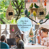 Hand-Woven Teardrop Shaped Grass Bird Hut by SunGrow