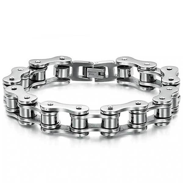 "316L Stainless Steel ""Slimline"" Biker Chain Bracelet - Blown Biker - 6"