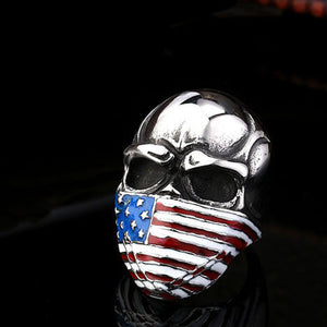 "316L Stainless Steel ""USA Biker"" Ring"