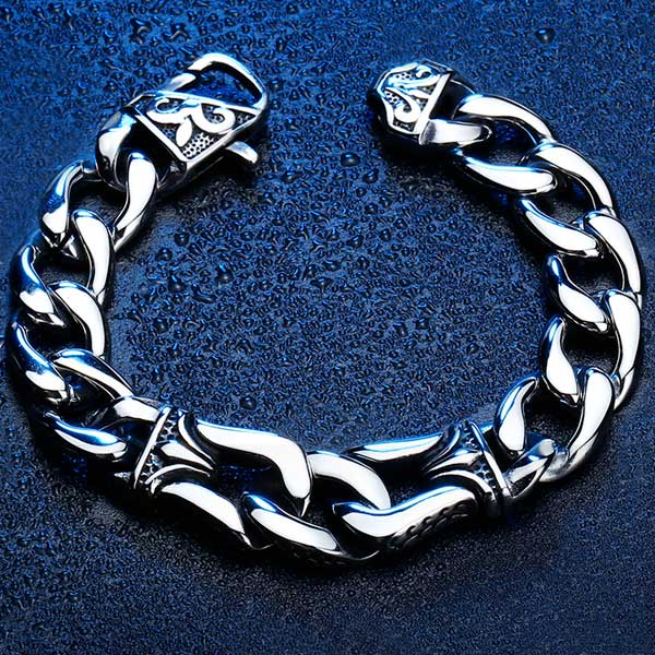 "316L Stainless Steel ""Nordic Viking"" Bracelet - Blown Biker - 1"