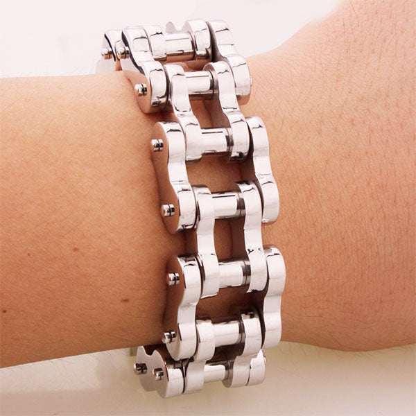 "316L Stainless Steel ""Polished Chain"" Bracelet"