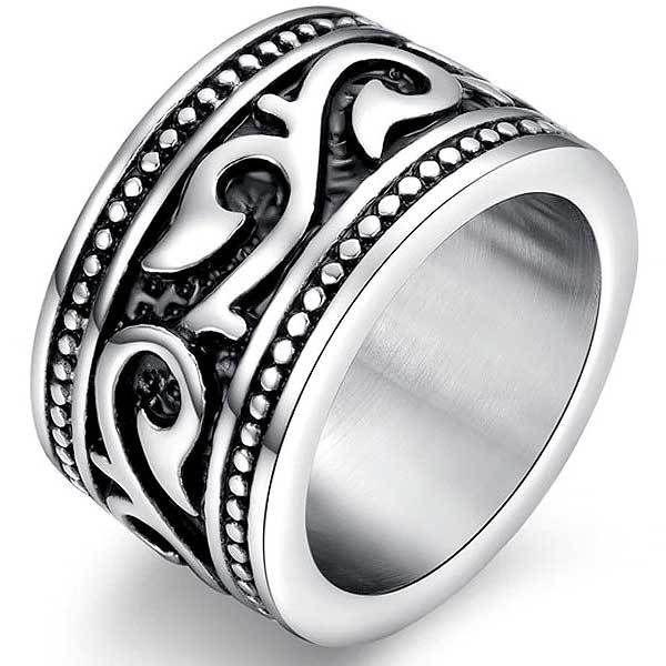 "316L Stainless Steel ""Anel Aneis Gothic"" Ring - Blown Biker - 3"