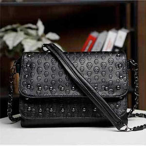 """Studs & Skulls"" Womens Handbag - Blown Biker - 1"