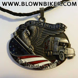 Truck Driver - An American Hero Pendant Necklace - Blown Biker - 4