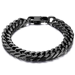 "316L Stainless Steel ""Black Cuban"" Bracelet - Blown Biker - 1"