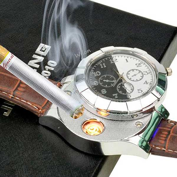 Rechargeable USB Lighter Watch - Blown Biker - 1