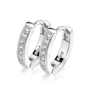 925 Sterling Silver Hoop Earrings - Blown Biker - 1