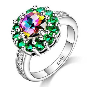 "925 Sterling Silver ""Bright Stones"" Ring - Blown Biker - 1"