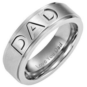 "316L Stainless Steel ""Biker Dad"" Ring - Blown Biker - 1"