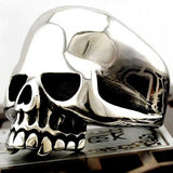 "316L Stainless Steel ""Polished Skull"" Ring - Blown Biker - 1"