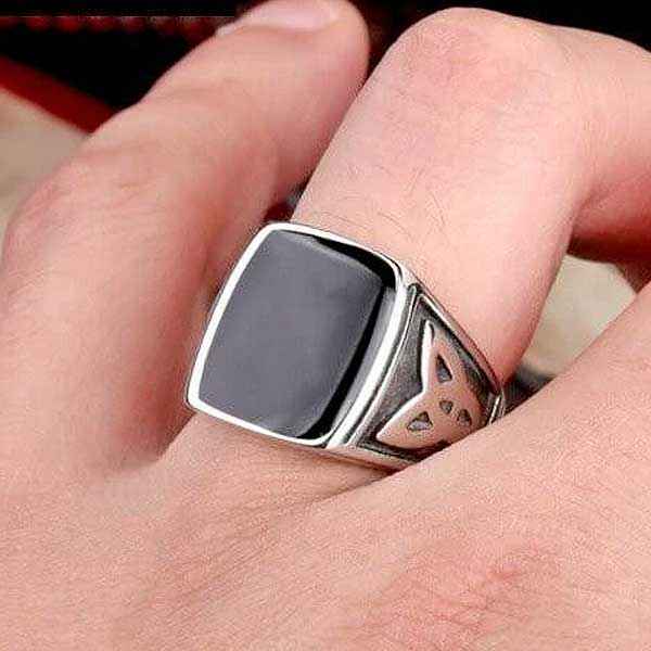 "316L Stainless Steel ""Egyptian"" Ring - Blown Biker - 1"