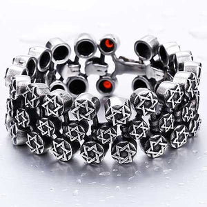 "316L Stainless Steel ""Full Star"" Bracelet - Blown Biker - 1"