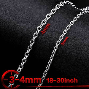 "316L Stainless Steel ""O Style"" Chain Necklace - Blown Biker - 2"