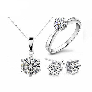 Cubic Zirconia Crystal Jewlery Set - Blown Biker - 5