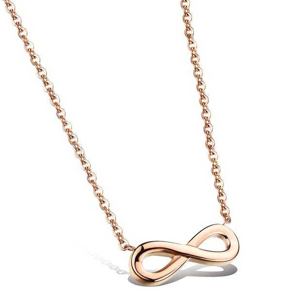 "Rose Gold ""Infinity"" Necklace - Blown Biker - 1"
