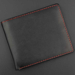 """Red Stitches"" Mens Bifold Wallet - Blown Biker - 1"