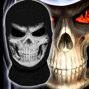 "Grim Reaper ""Skull"" Full Face Biker Mask - Blown Biker - 1"