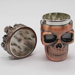"""Crowned Skull"" Herb Grinder - Blown Biker - 1"