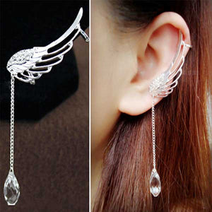 """Water Droplet"" Angel Wings Earrings - Blown Biker - 1"