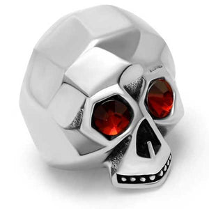 "316L Stainless Steel ""Titanium Skull"" Ring - Blown Biker - 1"