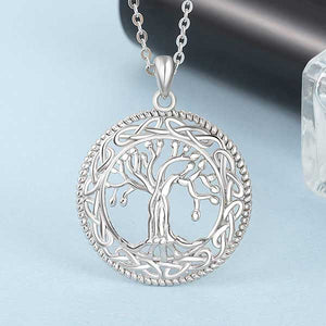 "925 Sterling Silver ""Family Tree"" Pendant Necklace - Blown Biker - 1"
