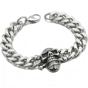 "316L Stainless Steel ""Biker Teeth"" Chain Bracelet"